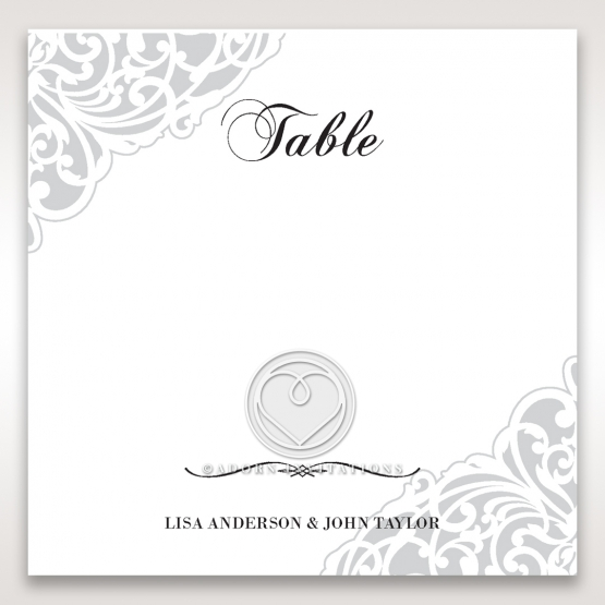 An Elegant Beginning table number card design