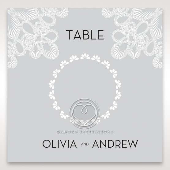 Charming Rustic Laser Cut Wrap wedding table number card stationery item