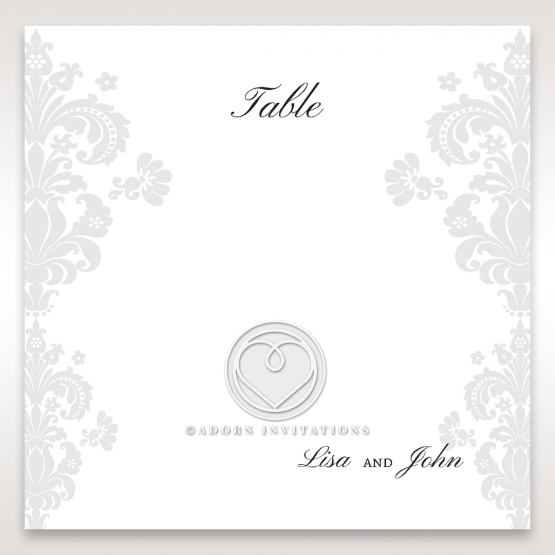 Classic Ivory Damask table number card