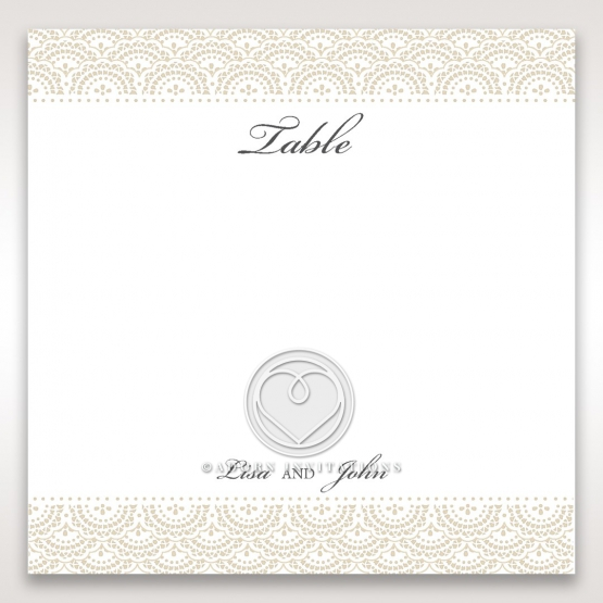 Intricate Vintage Lace wedding stationery table number card design