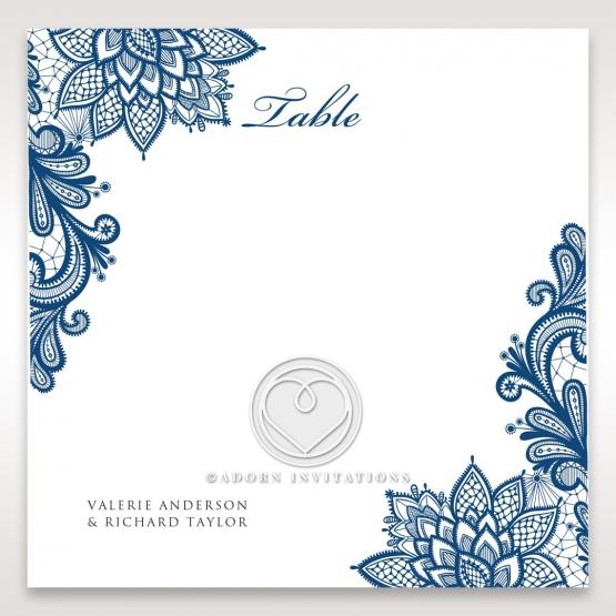 Noble Elegance reception table number card stationery design