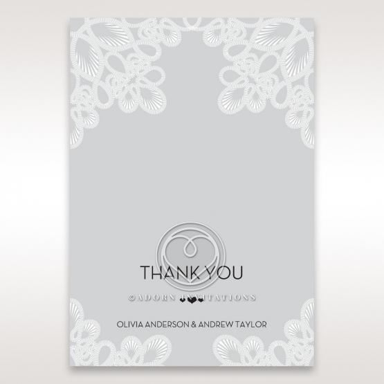Charming Rustic Laser Cut Wrap wedding stationery thank you card design