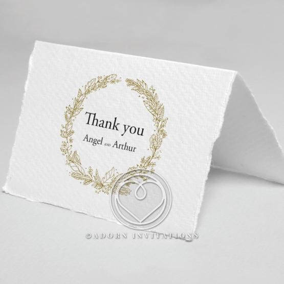 Enchanted Wreath wedding stationery thank you card design