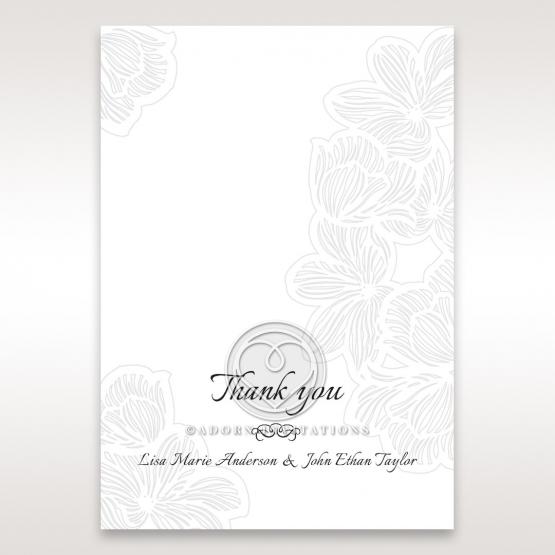 Floral Laser Cut Elegance thank you card design