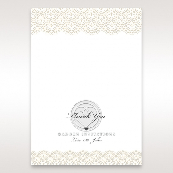 Intricate Vintage Lace thank you stationery card design
