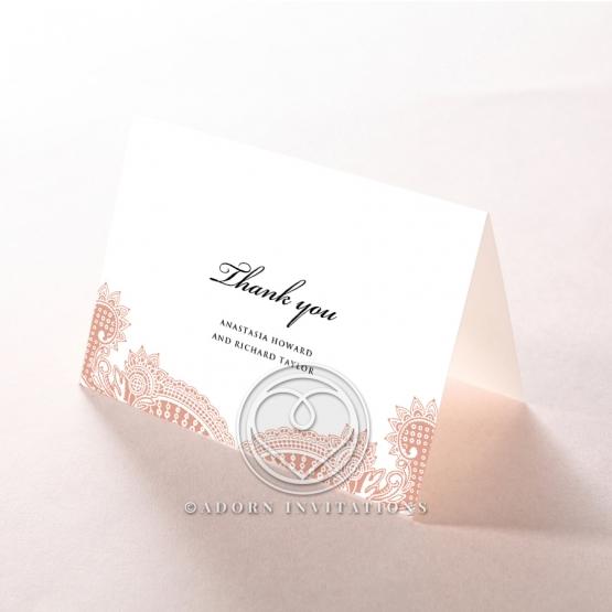 Regal Charm Letterpress wedding thank you card design
