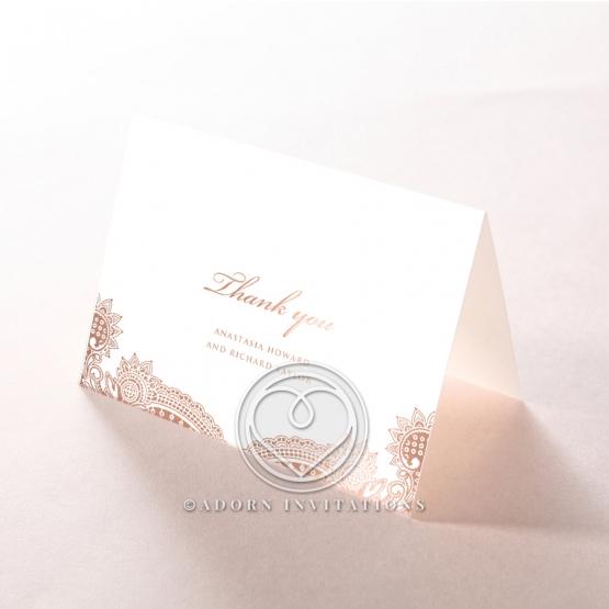 Regal Charm Letterpress with foil thank you card design