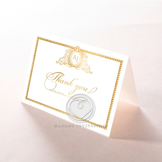 Royal Lace with Foil wedding thank you stationery card design
