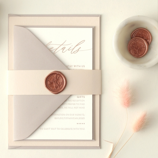 Romantic Blush and Pale Grey - Wedding Invitations - WP-CR07-RG-02 - 178974