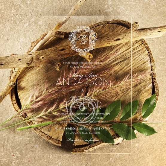 Acrylic Aristocrat Stationery card design