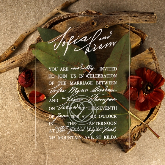 Acrylic Modern Romance Invitation Design