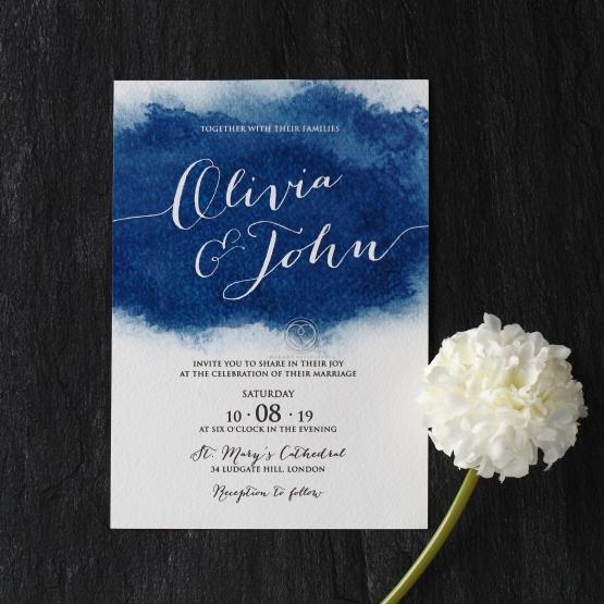 At Twilight Wedding Invitation Card