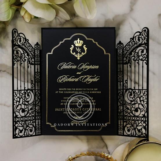black-victorian-gates-with-foil-wedding-invitation-PWI116051-GK
