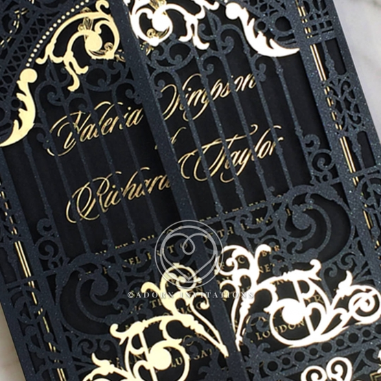 black-victorian-gates-with-foil-wedding-invitation-card-PWI116051-GK