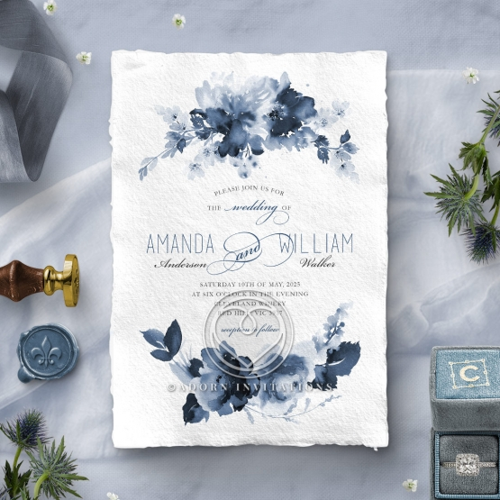 Blue Wonderland Invite Card Design