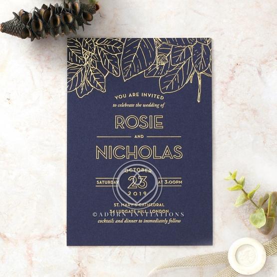 Botanical Canopy Wedding Invitation
