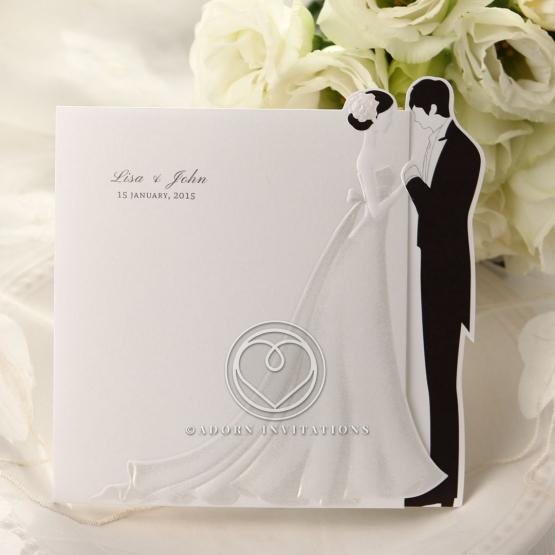 Card type bride and groom designed wedding invite