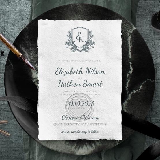Castle Wedding Invite Card Design