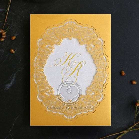 Charming Lace Frame Card Design