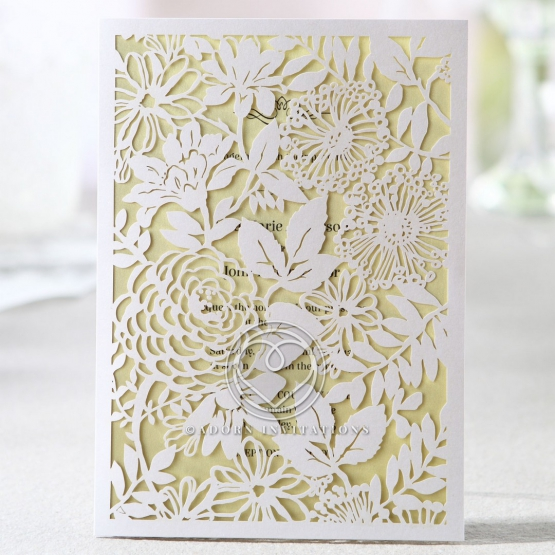 Two toned garden wedding inspired invitation