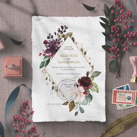 Contemporary Love Stationery invite