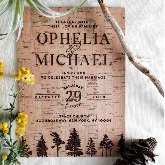 Delightful Forest Romance Wedding Invitation Card