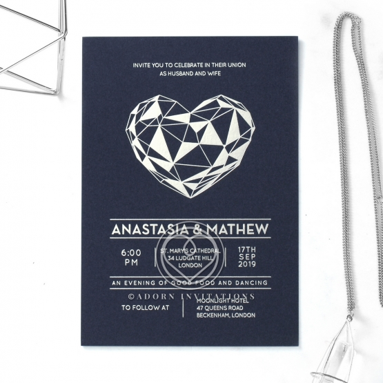 Digital Love Wedding Card Design