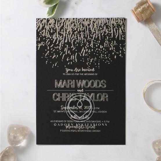 Fire Sparkle Wedding Invitation Card Design