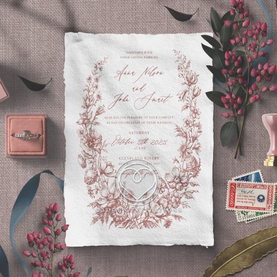 Fragrant Romance Wedding Invite Design