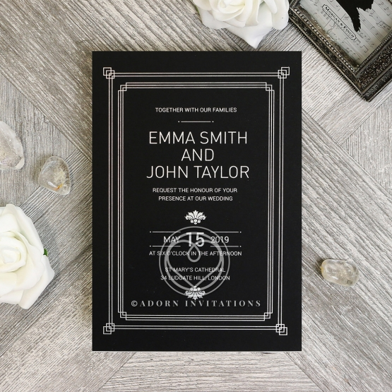 Gilded Decadence Wedding Invite Design