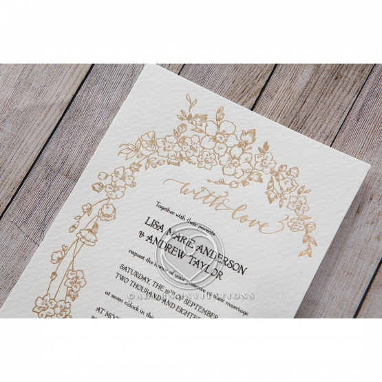 Classic Invitation With Modern Twist By Adorn
