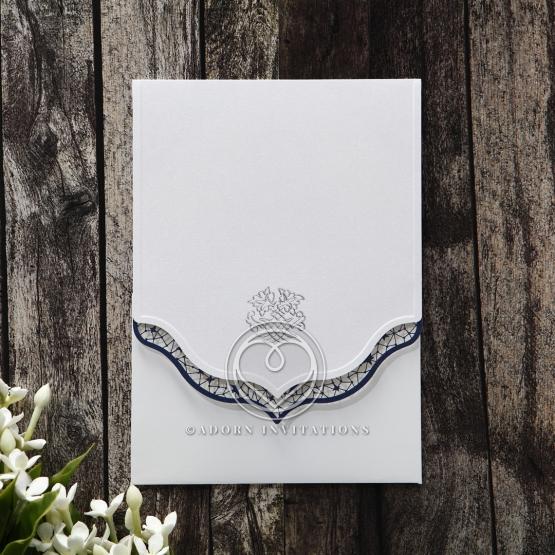 Graceful Ivory Pocket Wedding Invitation Card