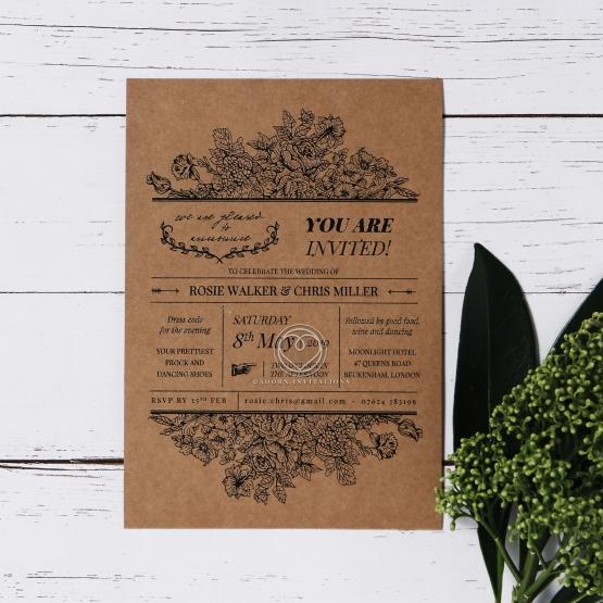 Hand Delivery Wedding Invitation