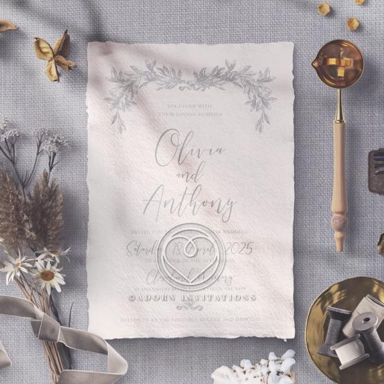 Leafy Wreath Card Design