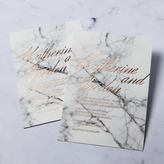 Gallery Minimalist Wedding Invitations: Marble And Custom Foil I Wedding Stationery Design