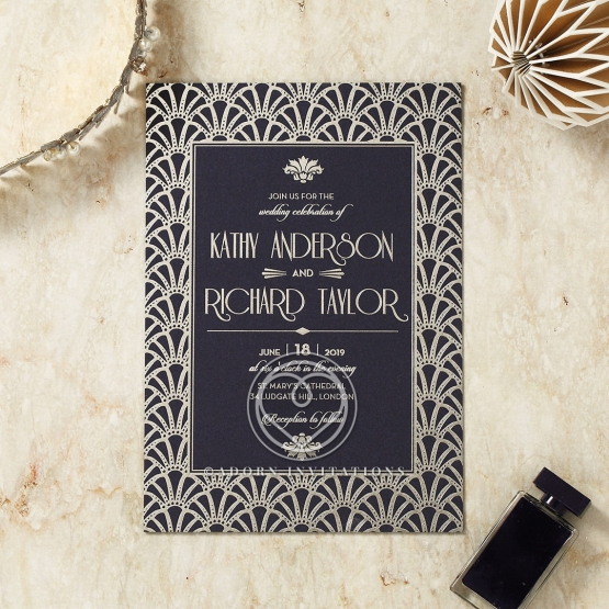 Modern Deco Invite Card Design