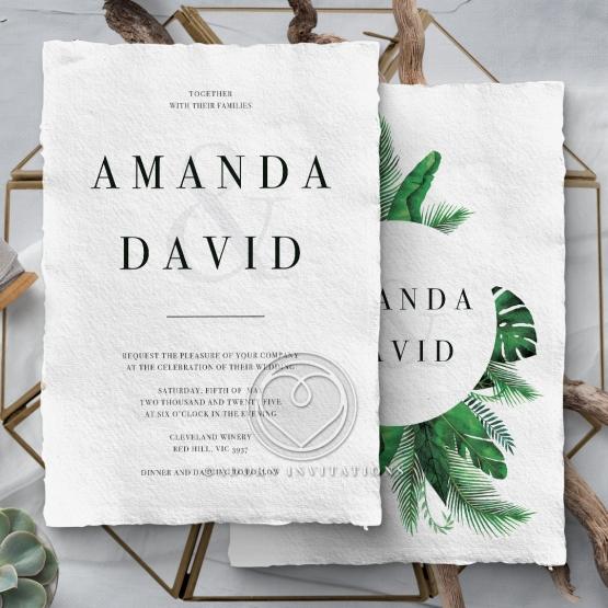 Palm Leaves Wedding Card Design