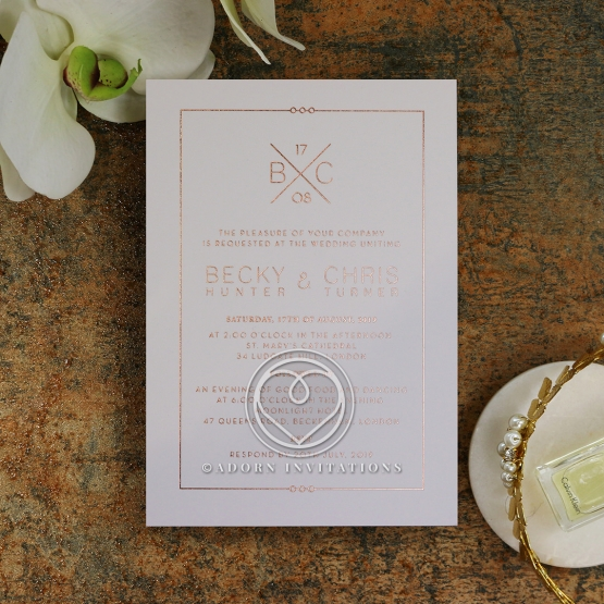 Quilted Grace Wedding Invite