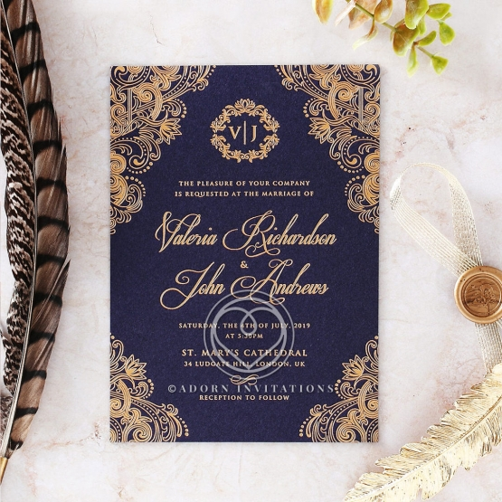 Wedding Invitation Card Design: Beautiful And Breathtaking Old World Charm Wedding Card