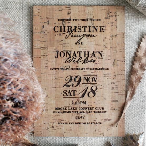 Rustic Love Notes Wedding Invite