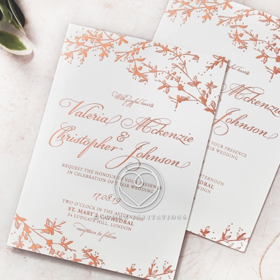Secret Garden Wedding Invite Card Design FWI116057 GW