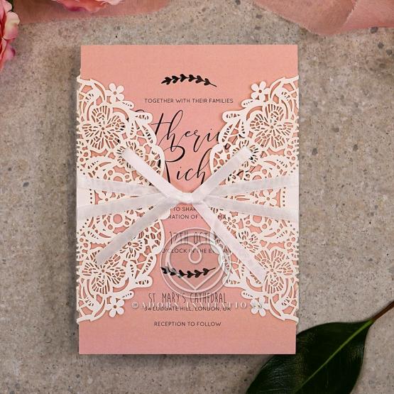 Sweet Romance Wedding Invite Card Design