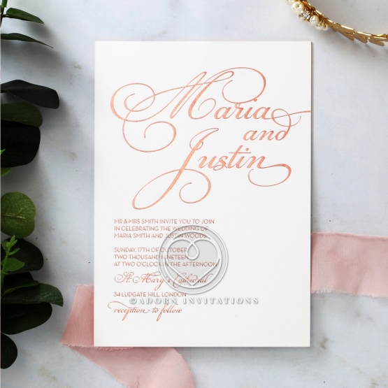 United as One Wedding Invite Card Design