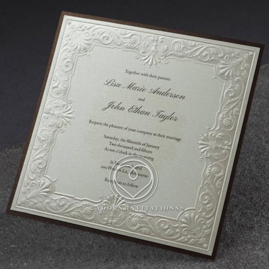 Top Result 71 Unique Embossed Wedding Invitations Photos 2018 Kdj5