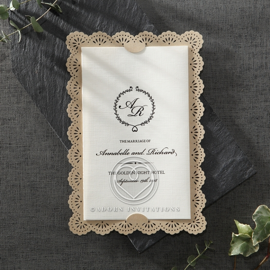 Stunning lightly textured trifold card set on a light brown backing paper