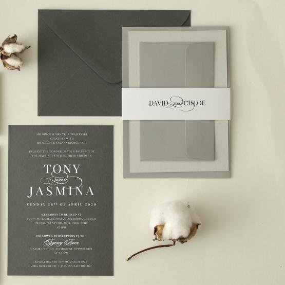 Chic Monochrome - Wedding Invitations - GI-CP300-WH - 178910