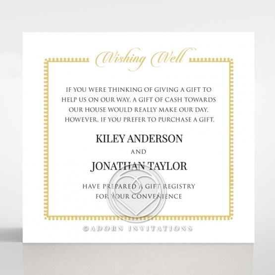 Blooming Charm wedding stationery wishing well invitation card design