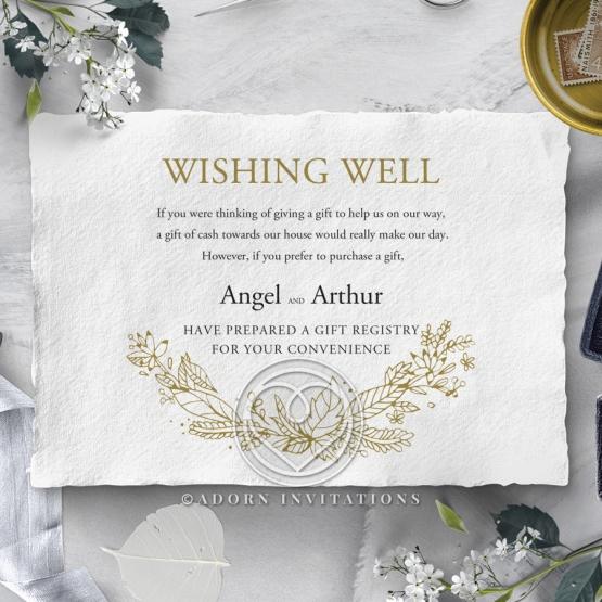 Enchanted Wreath wedding stationery gift registry invite