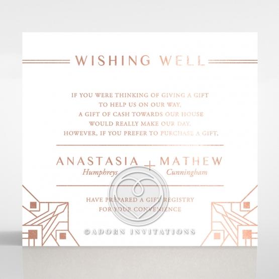 Gatsby Glamour wishing well invitation card