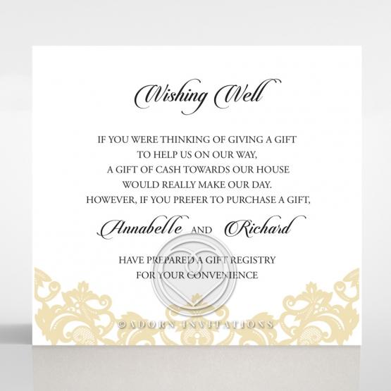 Golden Baroque Pocket wedding stationery wishing well invitation card